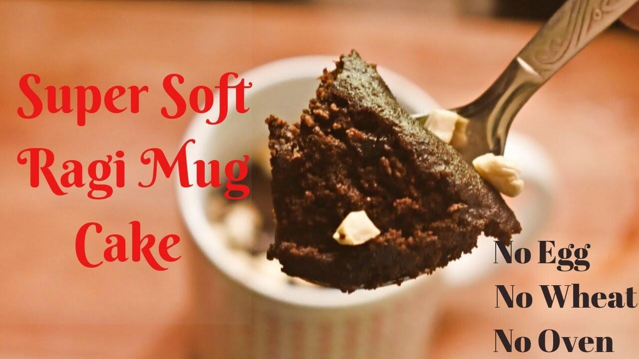 Super Soft Ragi Mug Cake Recipe || How to make Eggless Mug ...